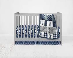 Navy crib bedding
