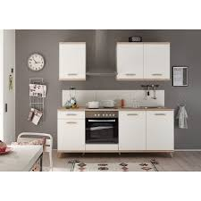respekta premium küchenzeile retro berp210re 210 cm weiß
