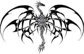 Black Tribal Gothic Dragon Tattoo Stencil By Samanosuke Kazama