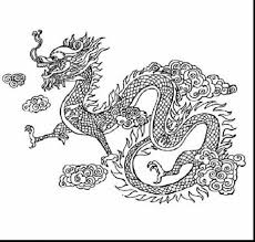 Incredible Chinese Dragon Coloring Page With New Year Pages And