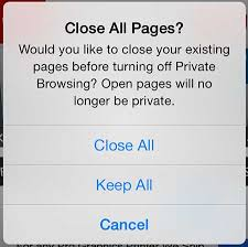 Turn f Private Browsing on iPhone