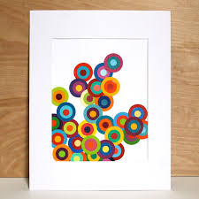 Project 30 Week Circular Paint Chip Art