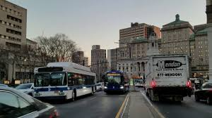 100 Mendon Truck Leasing MTA NYCT Bus 2019 New Flyer XD40 7708 On The B52 Cadman Plaza