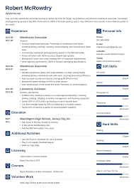 Warehouse Resume: Sample And Complete Guide [+20 Examples] Best Forklift Operator Resume Example Livecareer Warehouse Skills To Put On A Template Samples For Worker 10 Warehouse Objective Resume Examples Cover Letter Of New Pdf Cv Manager Majmagdaleneprojectorg Sample Experienced Professional Facilities Technician Templates To Showcase Objective Luxury Examples For Position Document