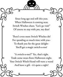 Poems About Halloween For Kindergarten by The Switch Witch Halloween Fun Switch Witch And Poem