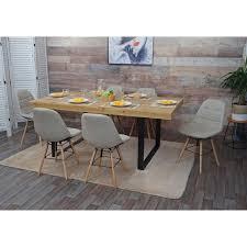 6x esszimmerstuhl hwc a60 ii stuhl küchenstuhl retro 50er jahre design stoff textil creme grau