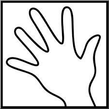 Clip Art Senses 1 Touch B&W I abcteach