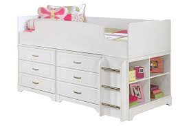 Twin White Bed by Lulu Twin Loft Bed With 6 Drawer Storage Ashley Furniture Homestore