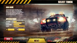 100 Car Truck Games ArtStation 4x4 Offroad Game Ui Designing Wahab Mirza