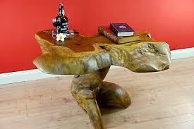 wurzelholz tisch couchtisch holz teakholz wohnzimmer sofatisch teak massivholz