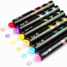 baise au bureau 6 pcs lote mini surligneurs baiser st stylo nouveauté