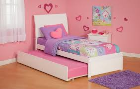 Twin Platform Bed With Trundle Pink Twin Platform Bed With