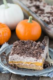 Pumpkin Layer Cheesecake by Chocolate Pumpkin Dessert Lasagna The First Year