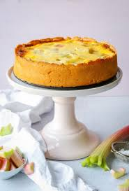 rhabarberkuchen mit schmand