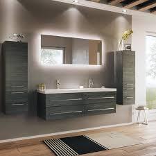 badezimmer komplett set anthrazit gemastert miramar 02 mit led spiegel und 140cm doppelwaschtisch b h t 240 200 50 5cm