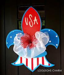 Fleur De Lis Reversible Patio Mats by Fleur De Lis Wreath Summer Door Hanger Summer Wreath