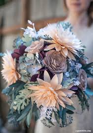 Rustic Paper Fower Bridal Bouquet DIY