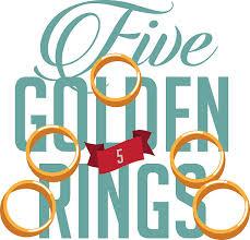 Five Golden Rings EPS 10 Vector Illustration Art