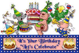 Winnie the Poo Birthday Celebration moving animation