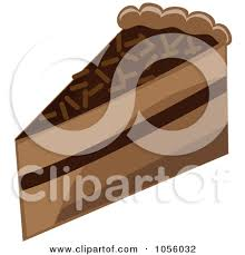 Chocolate Layer Cake Slice By Pams Clipart Alnm8r Clipart