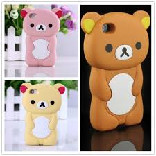 For iPhone 5 Case 3D Rilakkuma Cute Brown Bear Cover For iPhone SE