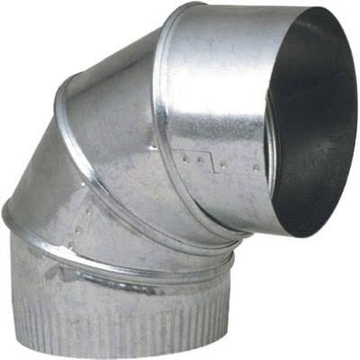 Imperial Manufacturing Galvanized Adjustable Elbow - 90 Degree, 3""
