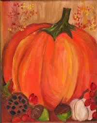 Pumpkin Patch Caledonia Il For Sale by Pumpkin Fall Painting Acrylic Painting Canvas Art On
