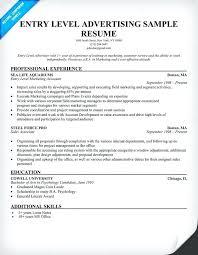 Advertising Resumes 2 Agency Resume Samples
