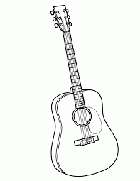 30 Guitar Coloring Pages Free Page Site 194692