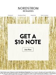 Nordstrom Last chance Get a $10 Nordstrom Note when you join