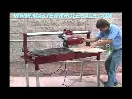 mk 212 rail saw for stone and tile demonstration video youtube