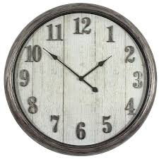 Shop Clocks At Lowes.com Rustic Wall Clock Oversized Oval Roman Numeral 40cm Pallet Wood Diy Youtube Pottery Barn Shelves 16 Image Avery Street Design Co Farmhouse Clocks And Fniture Best 25 Large Wooden Clock Ideas On Pinterest Old Wood Projects Reclaimed Home Do Not Use Lighting City Reclaimed Barn Copper Pipe Round Barnwood Timbr Moss Clock16inch Diameter Products
