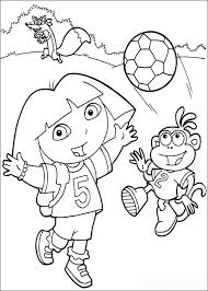 Dora And Boots Playing Football