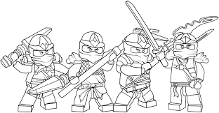 Ninjago Coloring Pages Archives Inside For