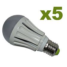 pack of 5 green leaf 12 watt a19 led household light bulbs