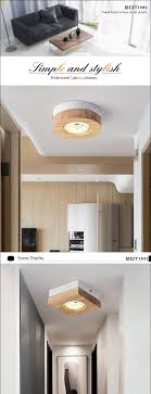 100 Wooden Ceiling 2019 BOTIMI Modern LED Lights Lamp For Corridor Square Round Wood Kitchen Lights Small Surface Mounted Lamp From Grege 4418