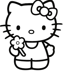 Full Image For Hello Kitty Coloring Pages Says Happy Birthday Christmas Online