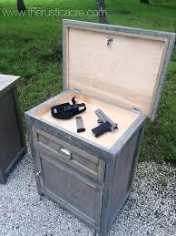custom built nightstand with hidden gun storage built by the