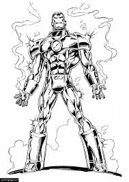 Iron Man 3 Burning Hands Coloring Page For