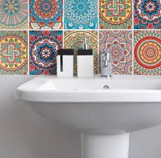 fliesenaufkleber für küche und badezimmer mandala bunt