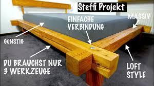 bett aus balken selbst bauen mit nur 3 werkzeugen geht das mrhandwerk
