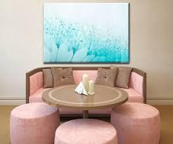wandbild pusteblume türkis wand bilder dekoration wohnung modern wanddeko groß für wohnzimmer wb0347