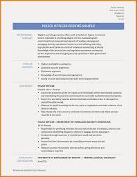 50 Police Ficer Resume Sample Retired Officer Examples