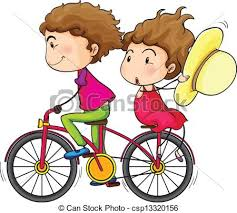 A Girl And Boy Riding In Fast Moving Bike