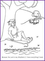David Psalm 23 Coloring Page