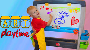 Step2 Art Easel Desk Toys by Family Fun Art Playtime Step2 Jumbo Art Easel Youtube