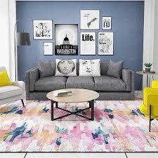 künstlerische bunte helle malerei wohnzimmer dekorative teppich boden tür matte pad bad küche bereich teppich rosa