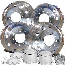 100 Heavy Duty Truck Wheels 225 Aluminum Northstar Polish 8000lb Wheel Kit Free Shipping