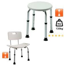duschhocker stuhl rund höhenverstellbar lehne senioren ebay