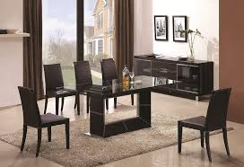 Intricate Designed Dining Set With Leather Brown Base